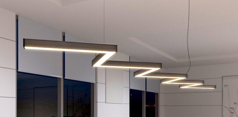 светильники зигзагообразные